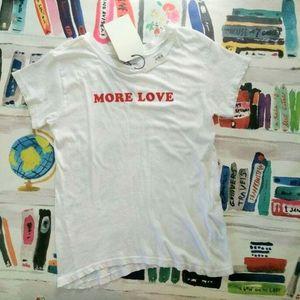 NEW Current/Elliott More Love Crew Neck T Shirt XS